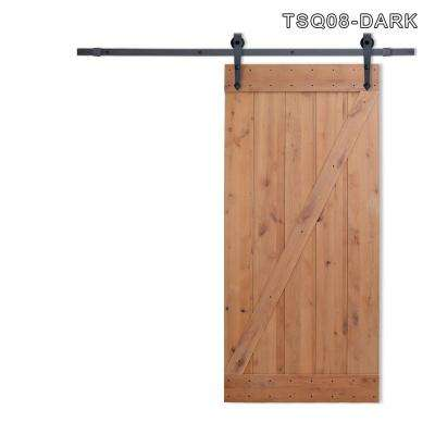36 in. x 84 in. Z Bar 1-Panel Primed Natural Wood Finish Sliding Barn Door with Sliding Door Hardware Kit