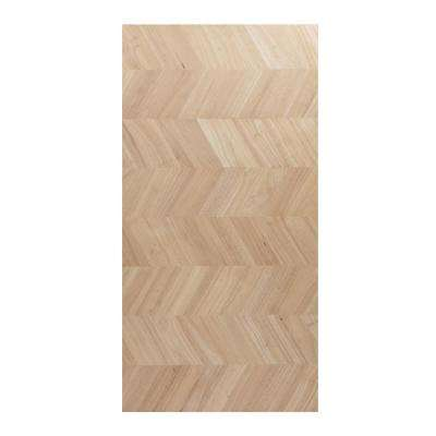 Unfinished Hevea with Chevron 8 ft. 2 in. L x 2 ft. 1 in. D x 1.5 in. T Butcher Block Countertop