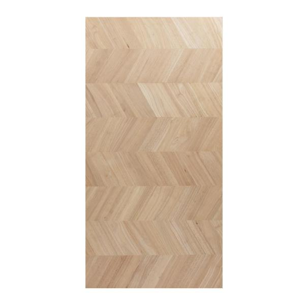 Unfinished Hevea with Chevron 6 ft. L x 39 in. D x 1.5 in. T Butcher Block Island Countertop