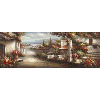"""22 in. x 61 in. """"Where I Want To Be"""" Hand Painted Canvas Wall Art"""