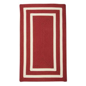 Griffin Border Red/White 2 ft. x 3 ft. Braided Indoor/Outdoor Area Rug