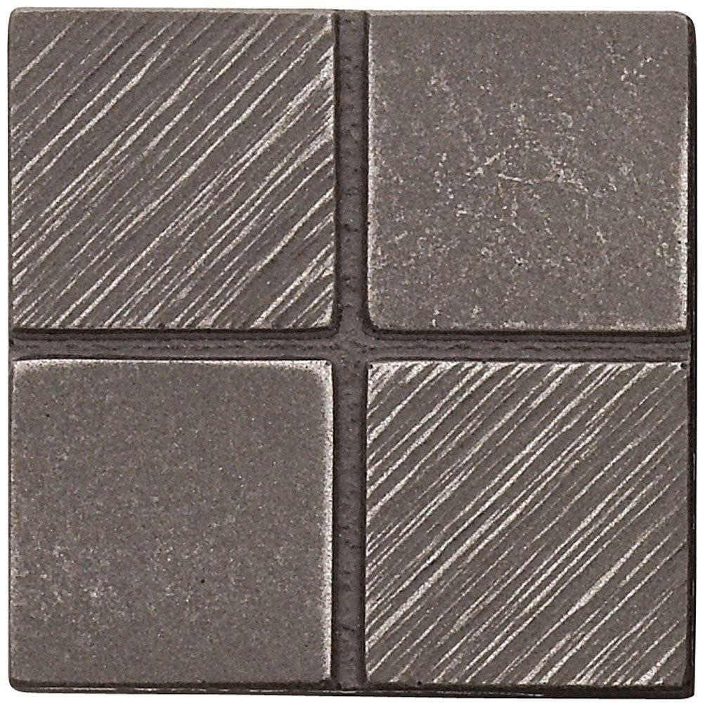 Weybridge 2 in. x 2 in. Cast Metal Mosaic Dot Brushed Nickel Tile (10 pieces / case)