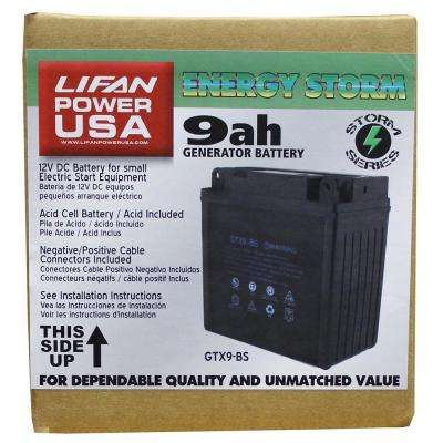 12-Volt 9 Amp Acid Cell Battery for Generators, Pressure Washers and Machines 7 HP and Below