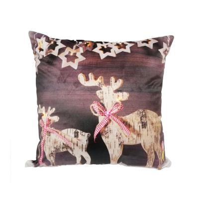 LED Christmas Reindeer Standard Pillow