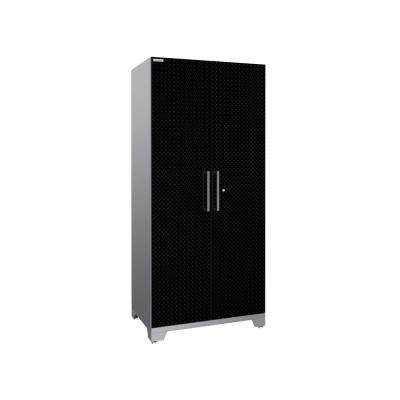 Performance Plus Diamond Plate 2.0 80 in. H x 36 in. W x 24 in. D Steel Garage Freestanding Locker Cabinet in Black