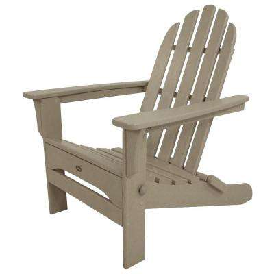 Cape Cod Sand Castle Folding Plastic Adirondack Chair