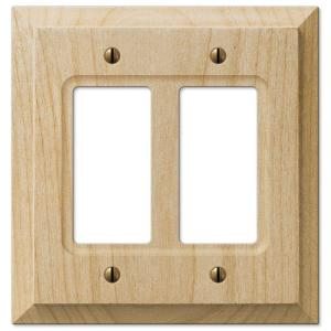 Hampton Bay Cabin 2 Decora Wall Plate Unfinished Alder Wood 180rrhb The Home Depot