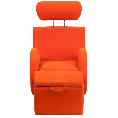 Hercules Series Orange Fabric Rocking Chair ...