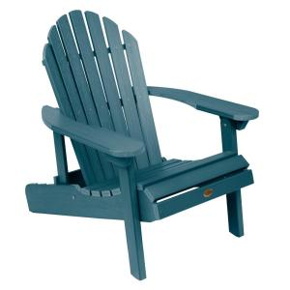 Hamilton Nantucket Blue Folding and Reclining Plastic Adirondack Chair