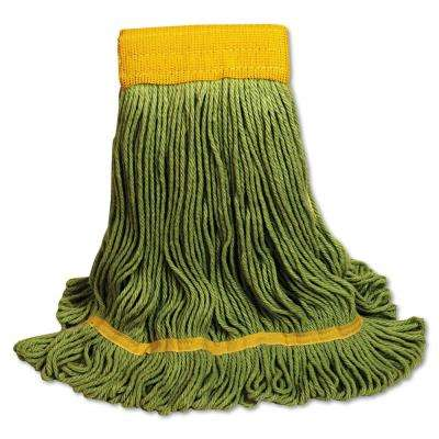 EcoMop Large Size Recycled Fibers Looped-End Mop Head in Green (12-Carton)