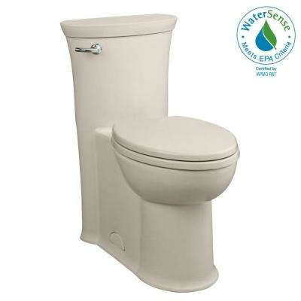 Tropic FloWise 1-piece 1.28 GPF Single Flush Elongated Toilet in Linen