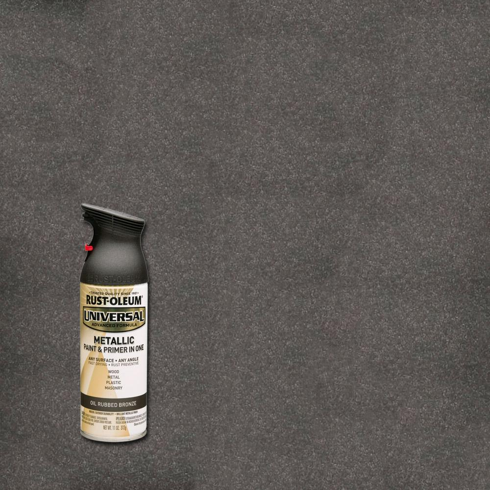 Rust oleum universal 11 oz all surface metallic satin oil rubbed bronze spray paint and primer Black metal spray paint