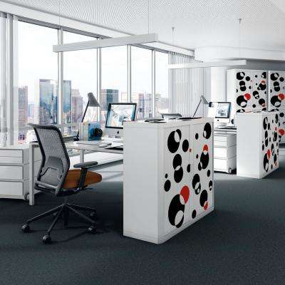 Paperflow easyScreen Black and Red Bubbles Vertical Divider Screen