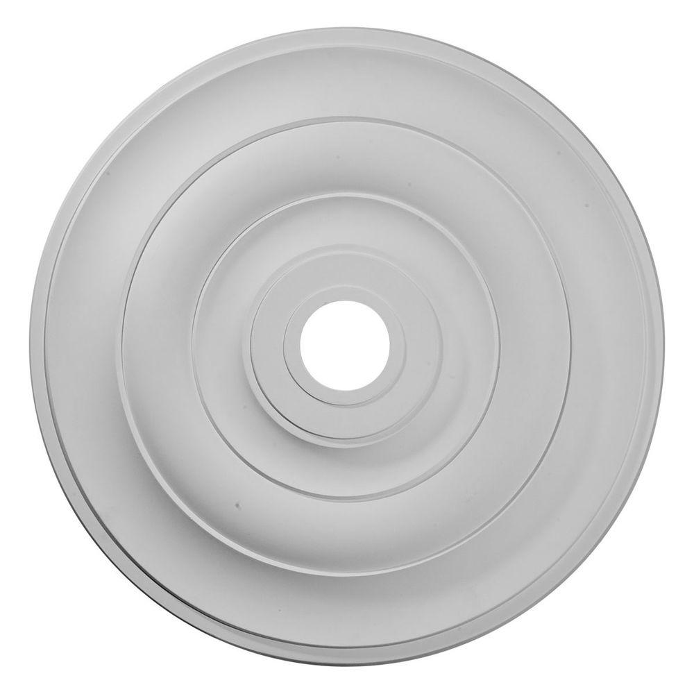 Ekena Millwork 26-1/2 in. O.D. x 3-5/8 in. I.D. x 1-1/2 in. P Jefferson Ceiling Medallion