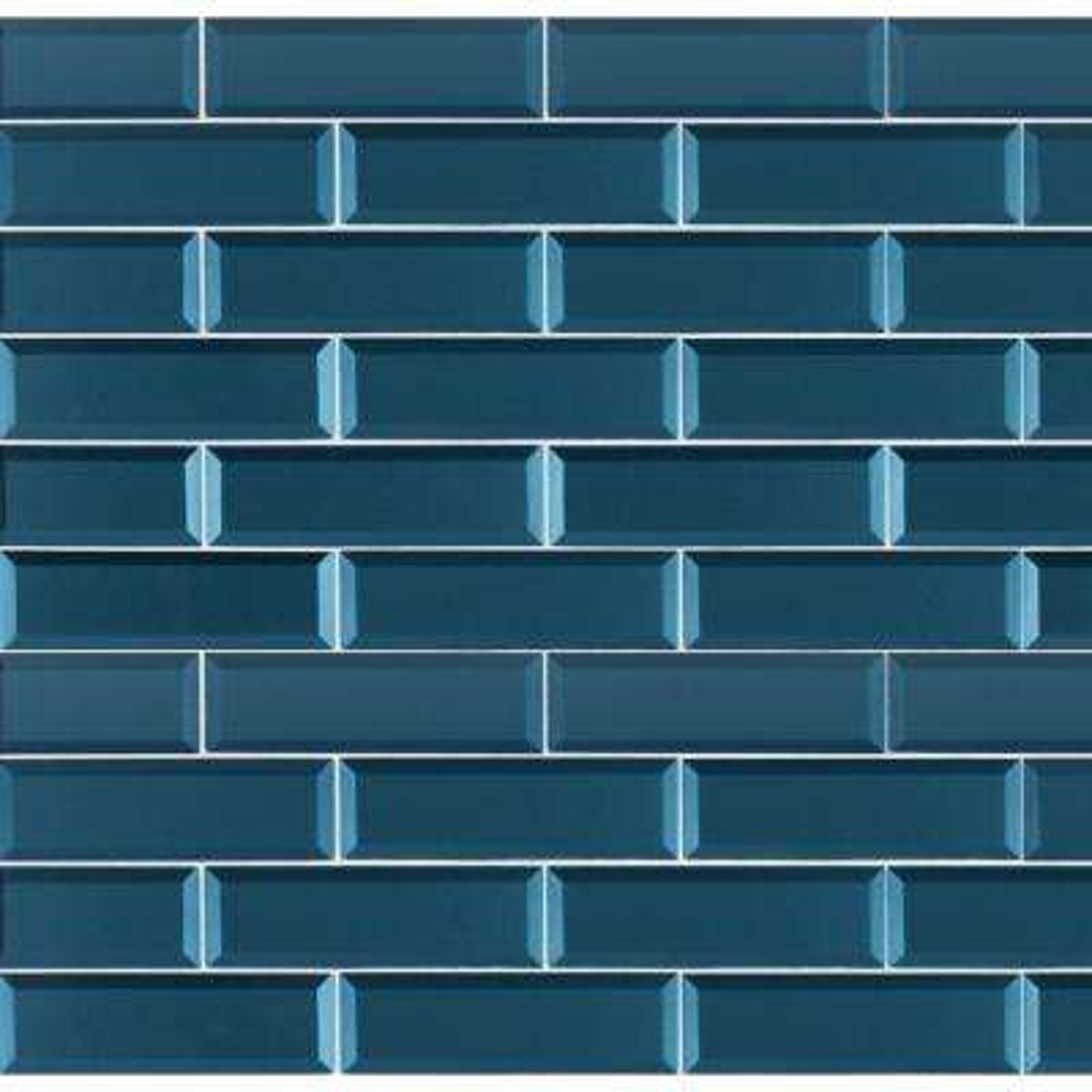 Tahiti Blue Beveled 2 5 In X 9 8mm Gl Wall Tile