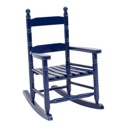 Natural Wood Navy Patio Childs Rocking Chair