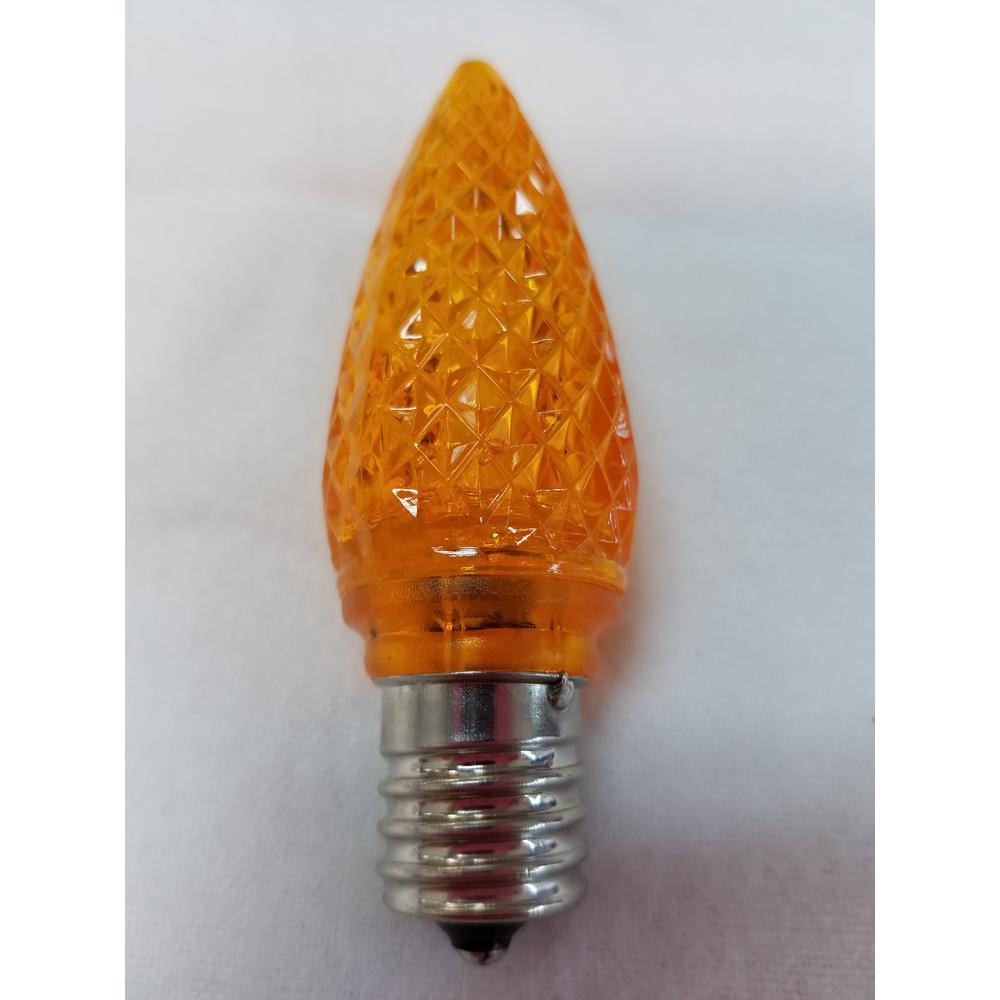 C9 Orange LED Light Bulb (Pack of 25)