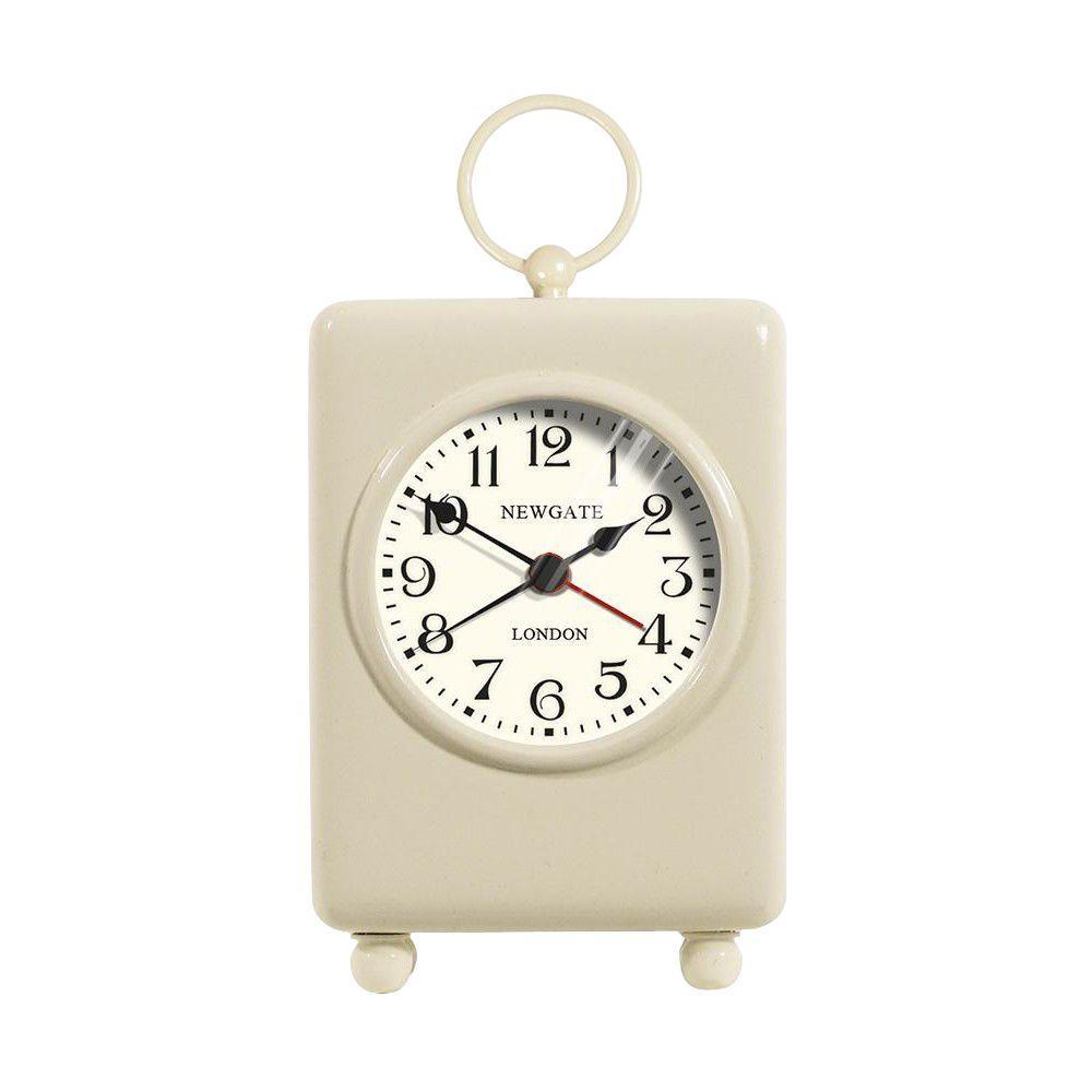 Home Decorators Collection 2 in. Carriage Cream Alarm Clock