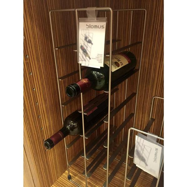 Blomus Pilare 12-Bottle Gray Floor Wine Rack 68486