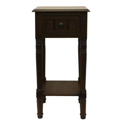 Simplify Ash Brown 1-Drawer End Table