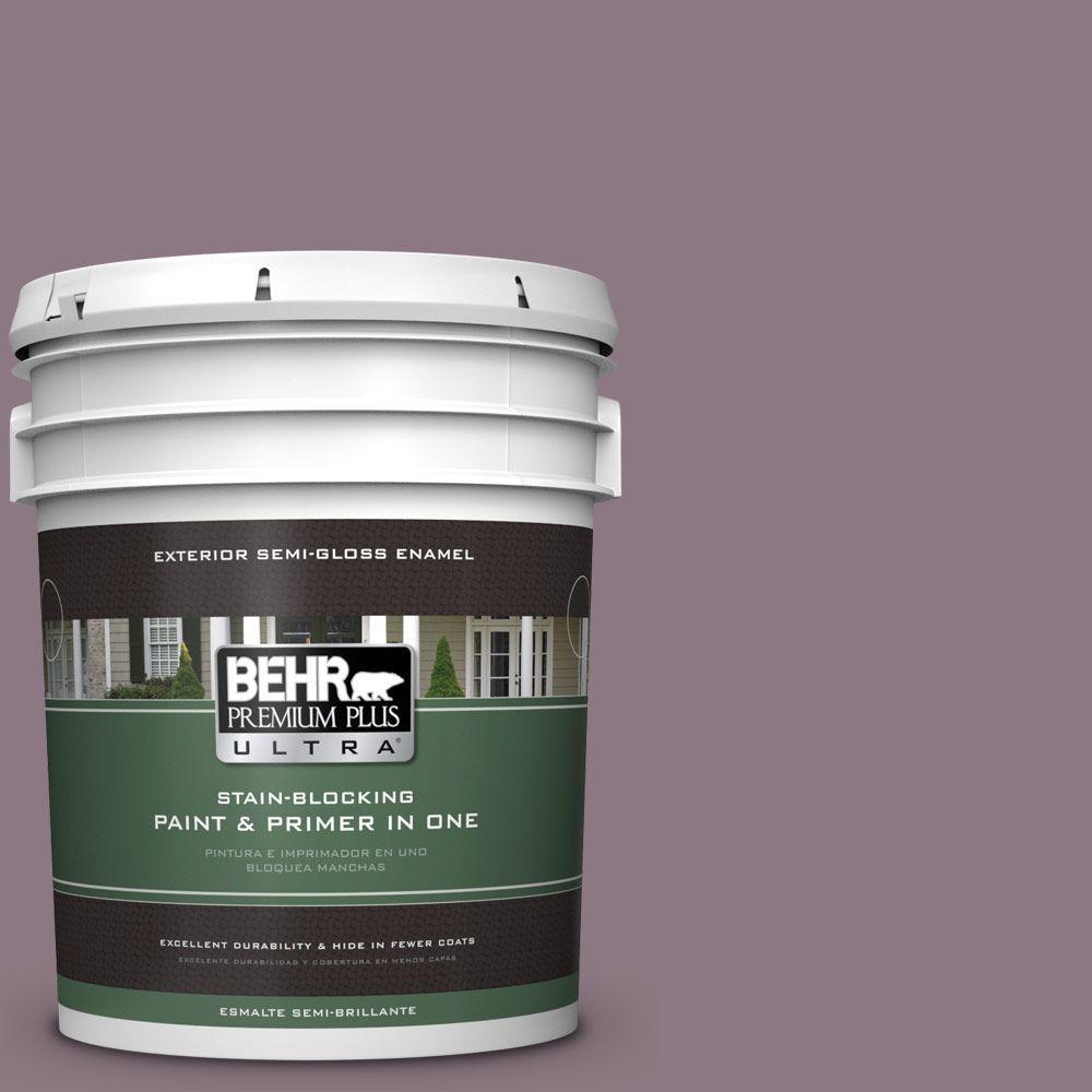 5-gal. #BNC-20 Purple Rubiate Semi-Gloss Enamel Exterior Paint