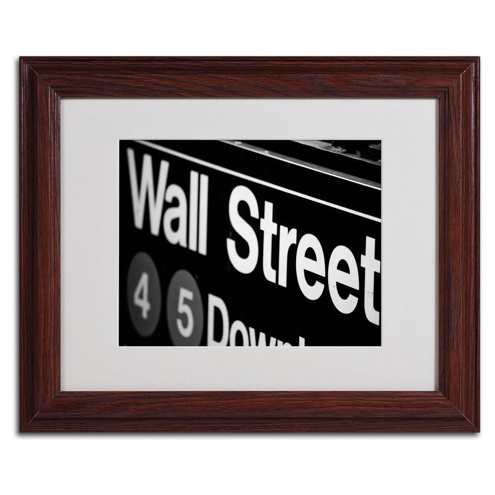 Trademark Fine Art 11 In X 14 Wall Street Next Matted Framed