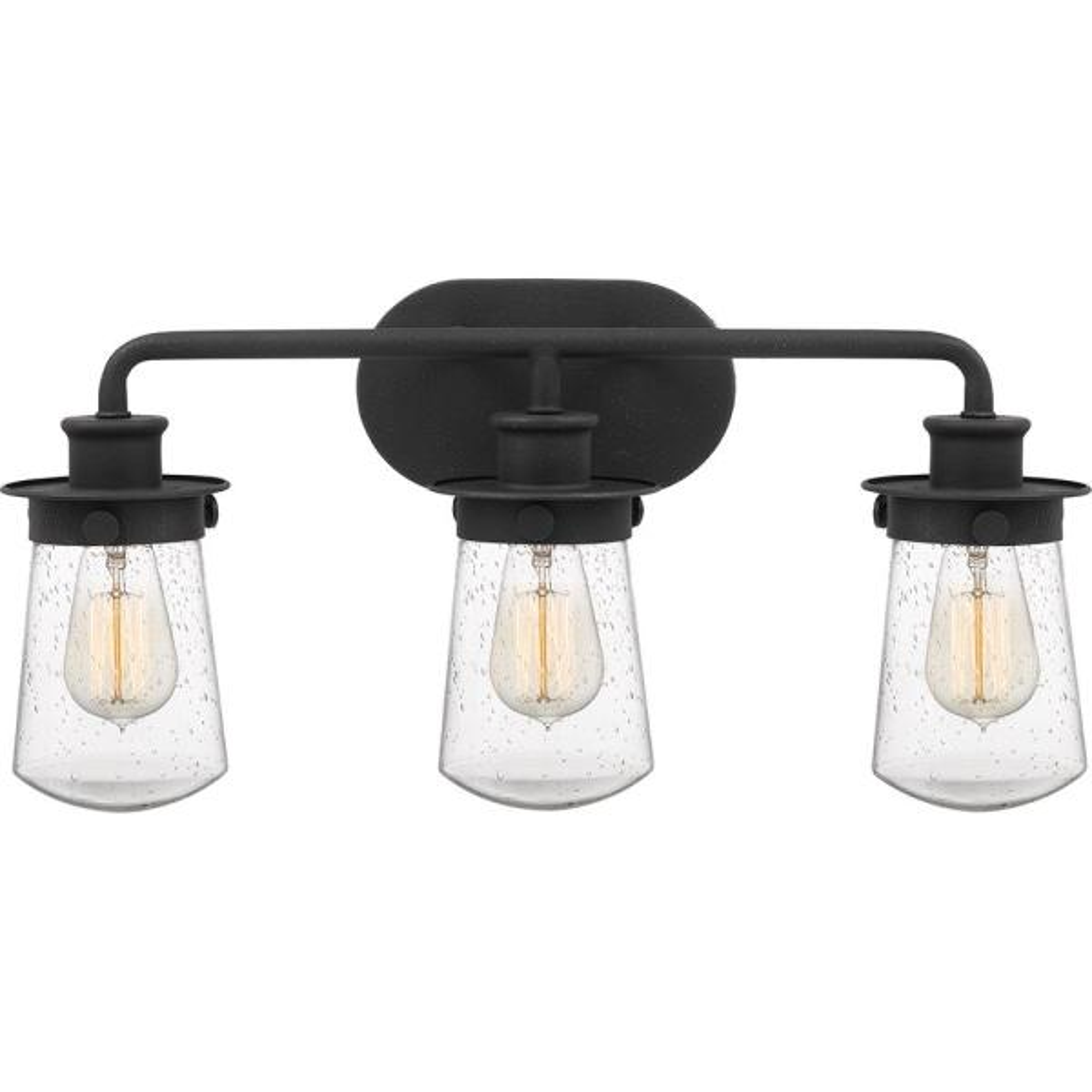 Lewiston 3-Light Grey Ash Vanity Light