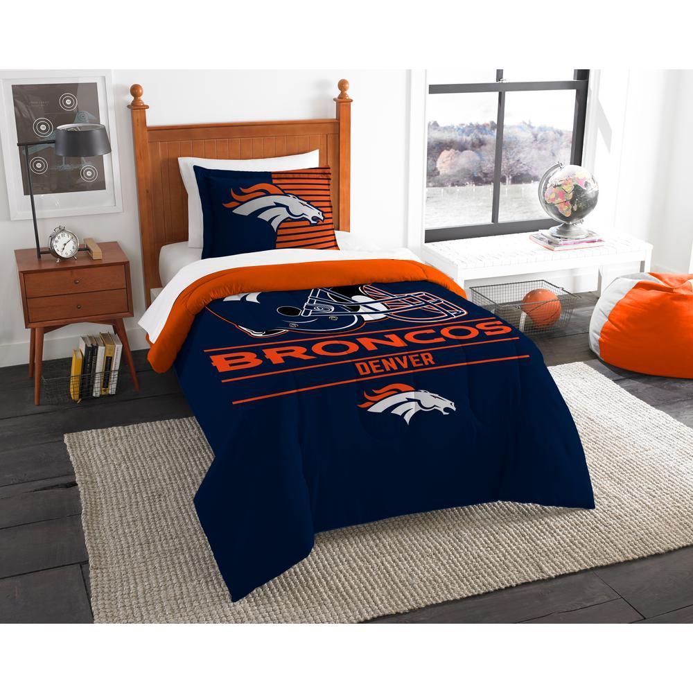 Broncos 3-Piece Multicolored Twin Comforter Set