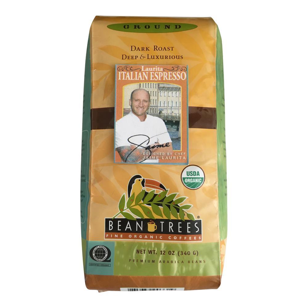 Bean Trees 12 oz. Chef Jaime Italian Espresso Coffee Ground (3-Bags)