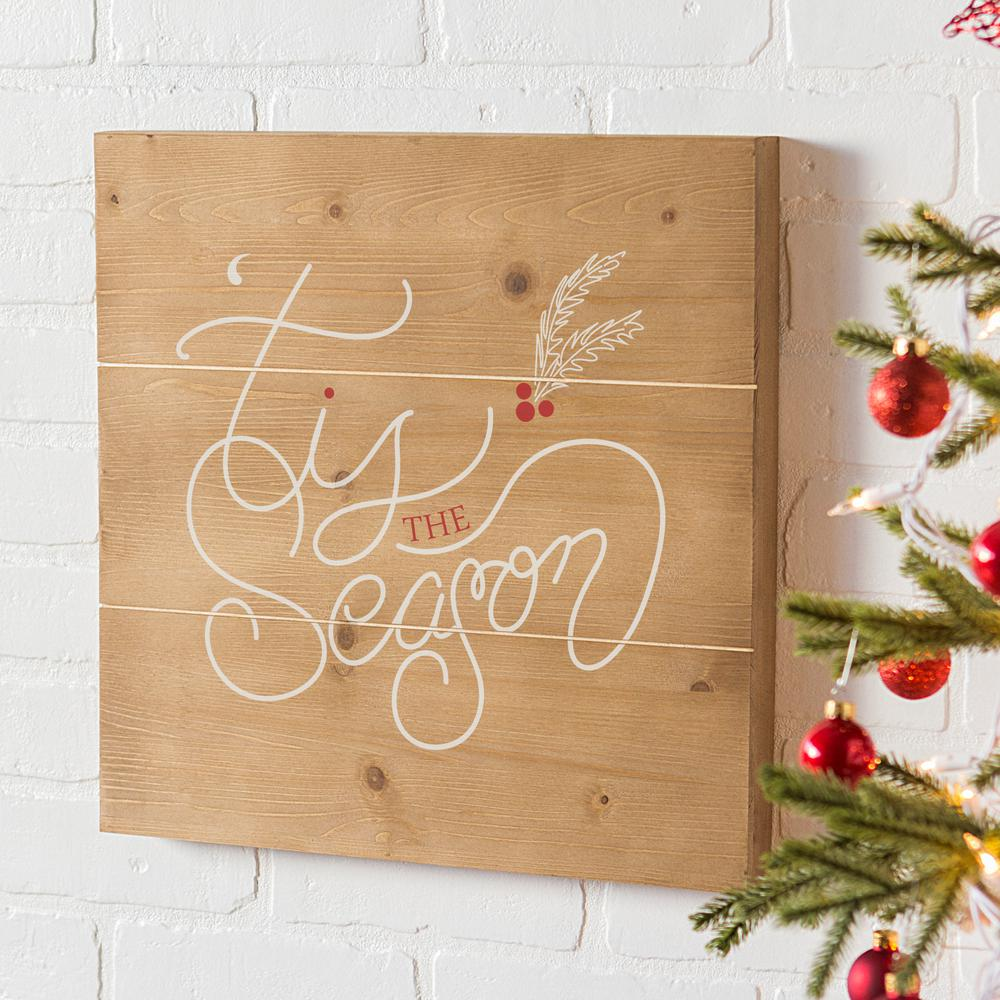 Cathy S Concepts Tis The Season 16 In X Christmas Wooden Wall Art