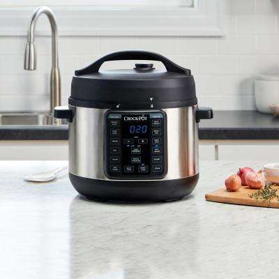 4 Qt. Express Crock Multi-Cooker in Stainless Steel