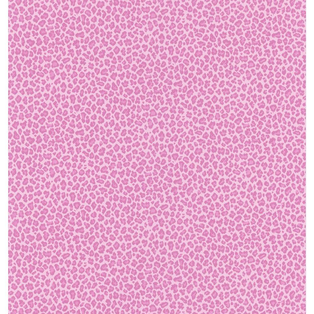Bambam Pink Leopard Skin Wallpaper Sample