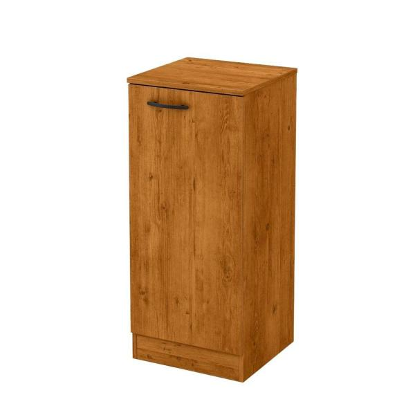 south shore axess country pine storage cabinet 10189 - the home depot