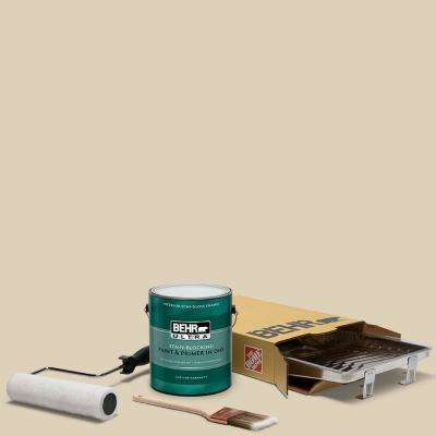 1 gal. #PPU4-12 Natural Almond Ultra Semi-Gloss Enamel Interior Paint and 5-Piece Wooster Set All-in-One Project Kit