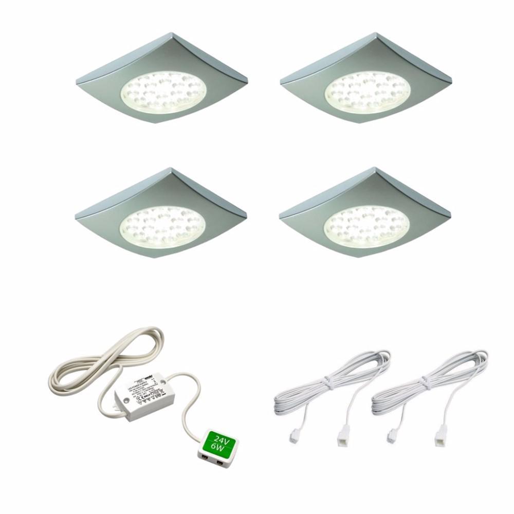 1.25-Watt LED Cool White Puck Kit (4-Pack)