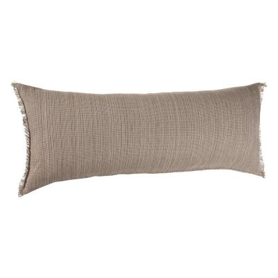 Scot Tan 14 in. x 36 in. Lumbar Neutral Cozy Poly-fill Rectangle Throw Pillow