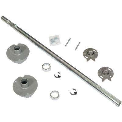 5.19 in. x 7.5 in. x 22.25 in. Chrome/Plastic Hardware Bulk Pack for Kidney Shaped Wood Lazy Susans