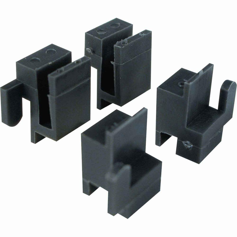 Prime-Line 3/8 in. x 9/16 in. Window Corner Guides (4-Pack)