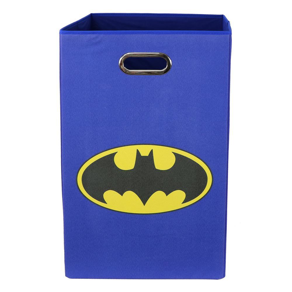 Modern Littles Batman Logo Blue Folding Laundry Basket