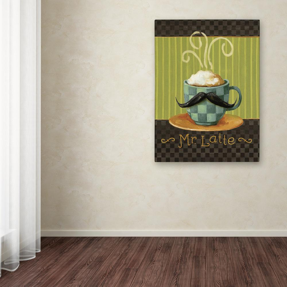 Trademark Fine Art 19 In X 14 Cafe Moustache Vi By