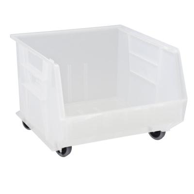 Ultra Series Stack and Hang 30 Gal. Storage Bin in Clear (3-Pack)
