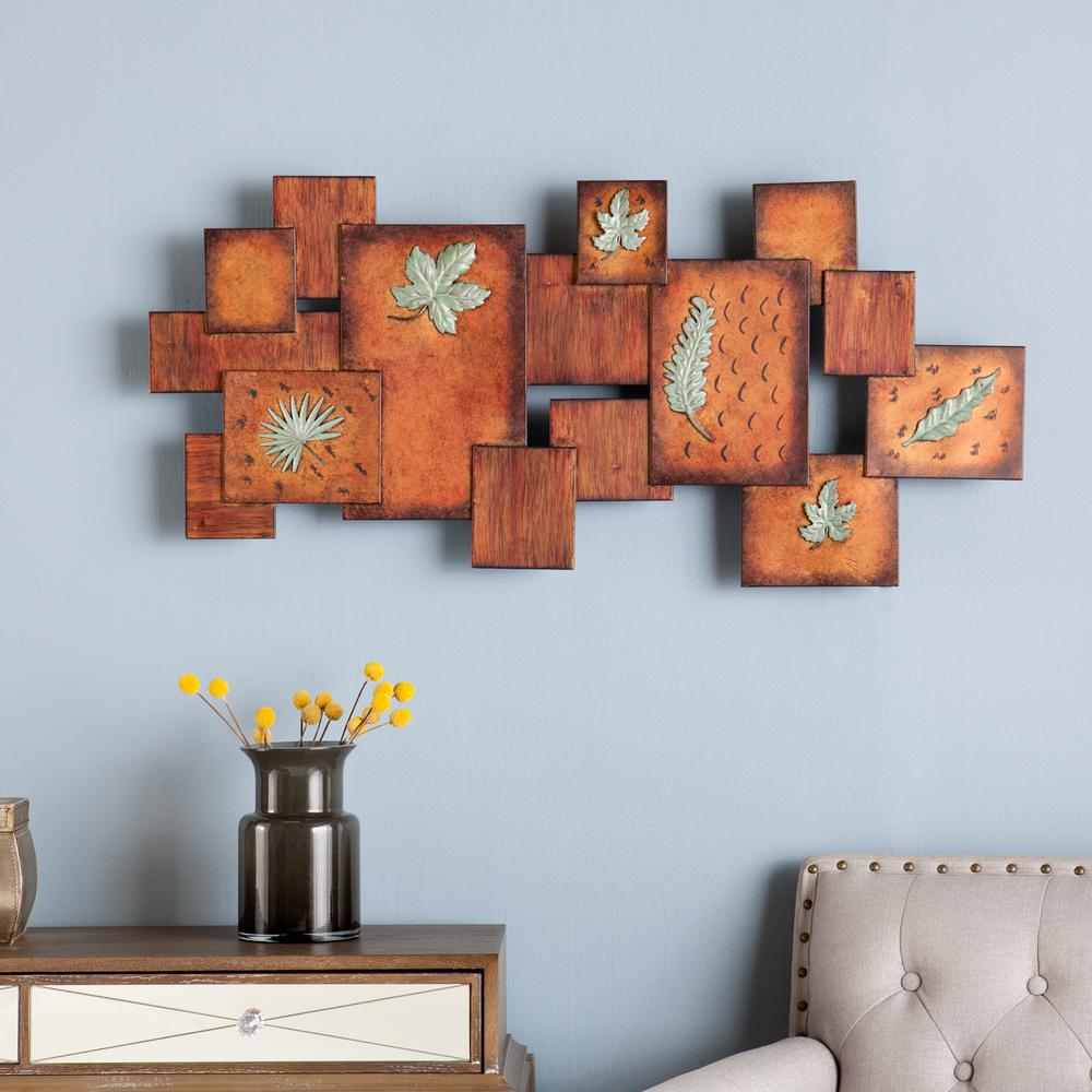 Southern Enterprises 40 in. x 19.25 in. Leaves / Abstract Wall Art Panel