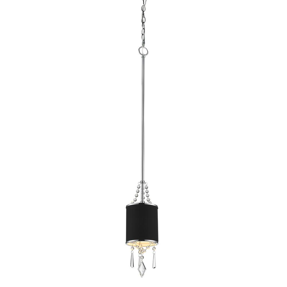 Echelon 1-Light Chrome with Tuxedo Shade Mini Pendant