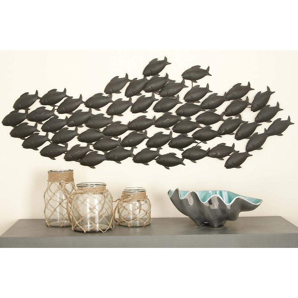 Coastal living school of fish wall decor
