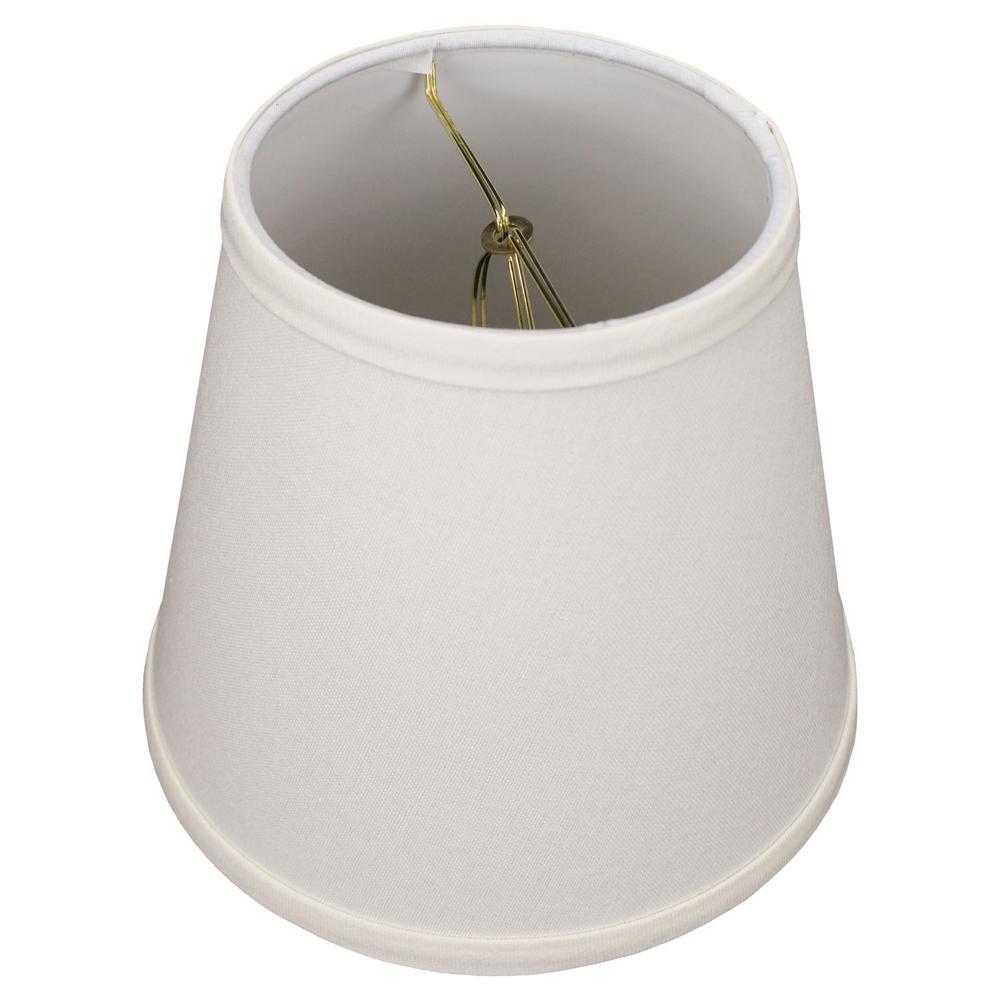 Fenchel Shades 5 in. Top Diameter x 8 in. Bottom Diameter x 7 in. Slant Empire Lamp Shade - Linen Cream