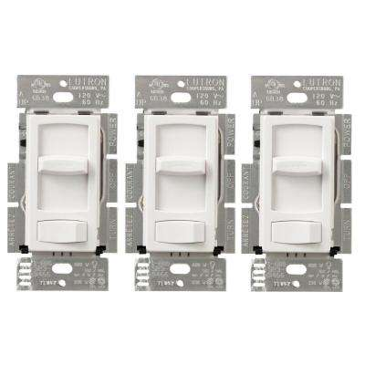 Skylark Contour 150-Watt Single-Pole/3-Way LED/CFL Dimmer, White (3-Pack)
