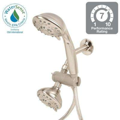 5-Spray Hand Shower and Shower Head Combo Kit in Brushed Nickel