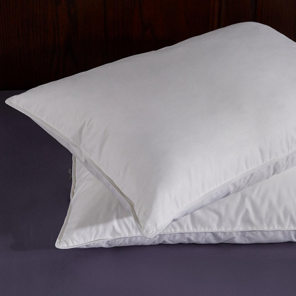 Pure down puredown white goose feather and down pillow in standard set of 2