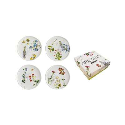 Arcadia 6 in. Floral Plates (Set of 4)