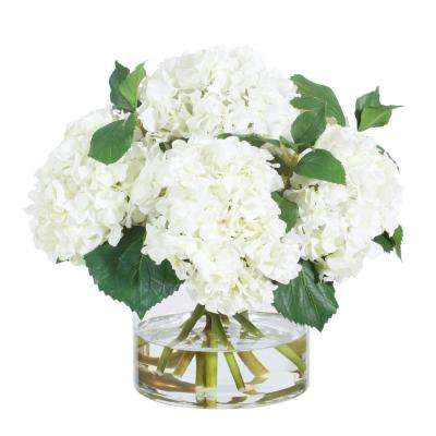 15 in. Hydrangea in Glass Vase